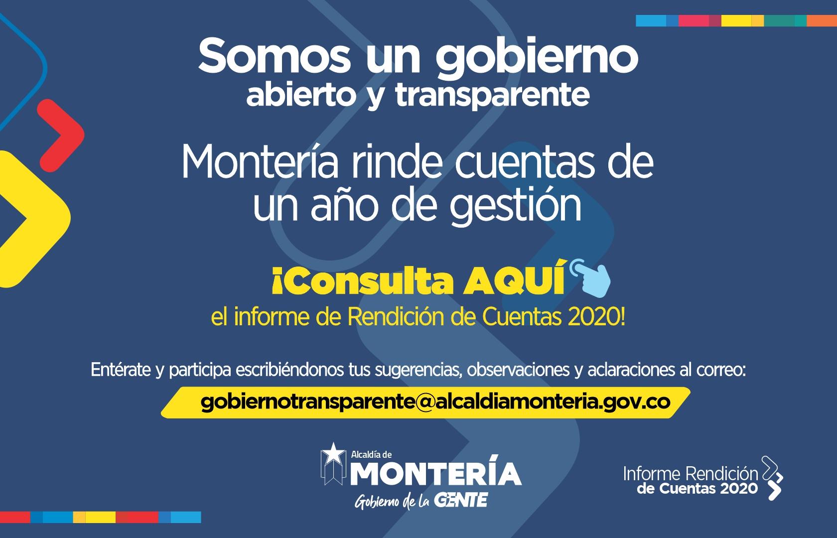 RENDICION DE CUENTAS 2020 GOBIERNO DE LA GENTE